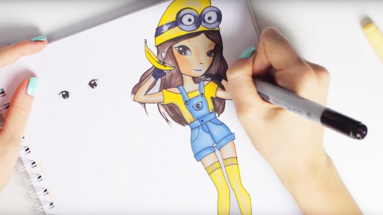 How to draw MINION TOPModel | malen lernen | drawing tutorial ...
