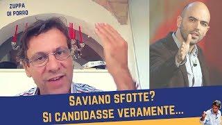 Saviano sfotte? Si candidasse veramente... (19 settembre 2017)