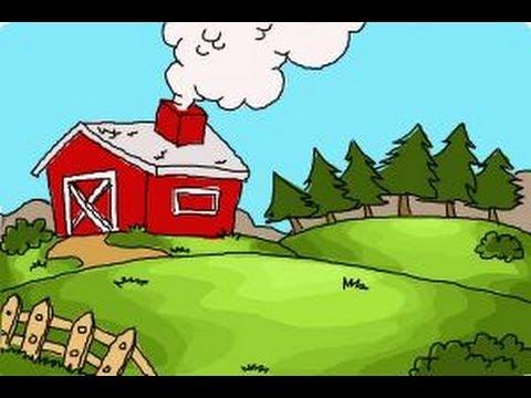 Farm Barn Drawing how to draw a farm - youtube