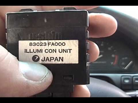 1995 subaru legacy - diy: illumination control unit replacement - youtube