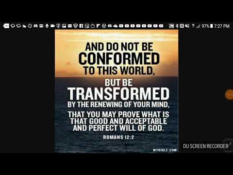 ARE YOU CONFORM OR TRANSFORM TO THIS WORLD.