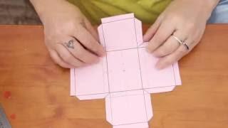 Super dica de como criar molde de caixinha de papel