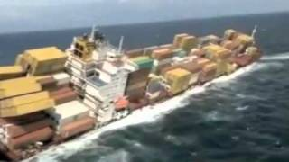 Video Footage of the Container Ship Rena