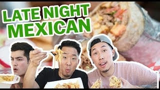 TRYING 10 BEST MEXICAN AMERICAN FOOD DISHES // Fung Bros