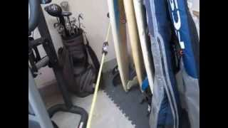Www.surfzing.com Surf Racks For Your Garage Basic Set Up How To Make Surf Racks
