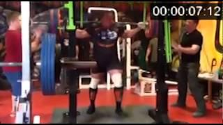 Mikhail Koklyaev: My f#cking crossfit!!! 900 kg RAW 37 sec (330-200-370)