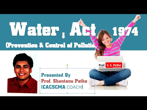 Water Act 1974   Part A Youtube
