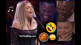 Fergie Messes Up National Anthem at All Star 2018 👩‍🎤🤣