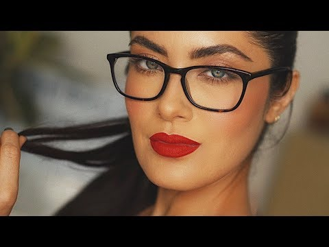 Makeup For Glasses And My Favorite Red Lip | Melissa Alatorre