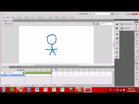 Como crear una animación básica utilizando Adobe Flash Professional CS5