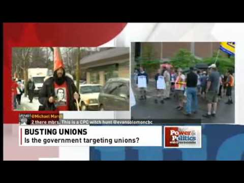 Union busting bill? Jim Stanford & Ian Lee debate CBC December 18, 2012