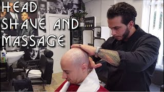 💈 Old school Barber - Head Shave with Massage - ASMR no talking