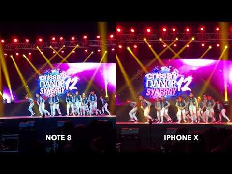 Note 8 vs. Iphone X Low Light Video Comparison (4k) - Aglaia Crissa 2017 Finals
