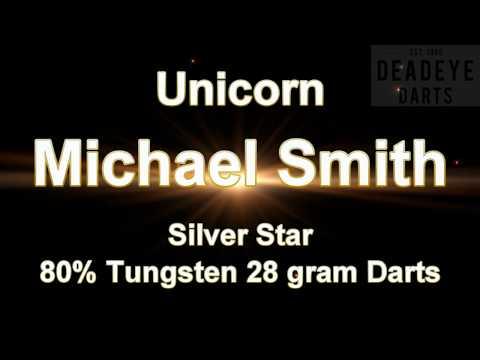 Unicorn Michael Smith Silver Star 80% Tungsten 28 gram Darts