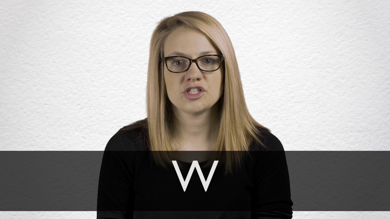 How to pronounce W in British English