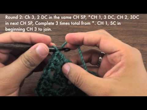 How to Crochet the Traditional Basic Granny Square (Left Handed)