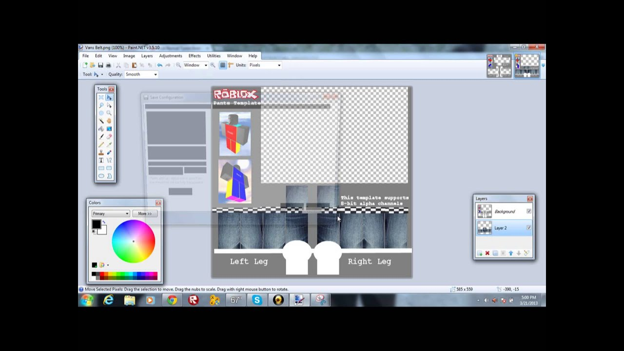 how to make clothes on roblox using paint net