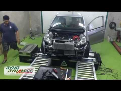 9Sec T-Speed Honda Brio Turbo Tuning @Station Test by Dyno Dynamics Thailand