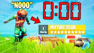 Fortnite Except I Have 0 SECONDS to Loot