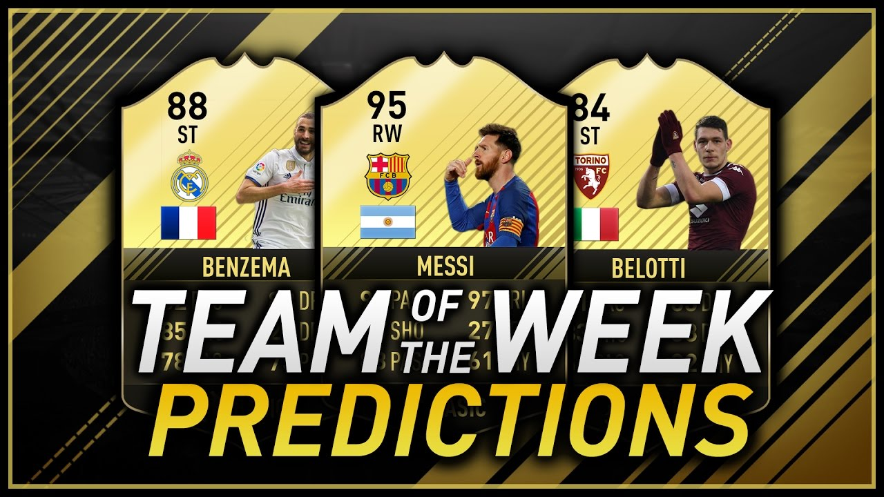 Fifa 17 Totw 25 Predictions