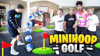 INSANE Indoor Mini-Golf TRICKSHOT Basketball In Mansion