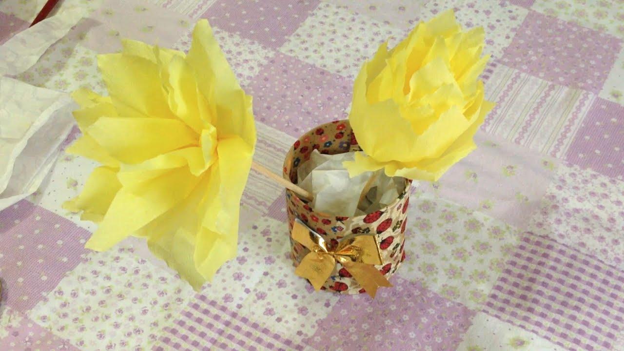 Artesanato com Material Reciclável Simples Passo a Passo YouTube