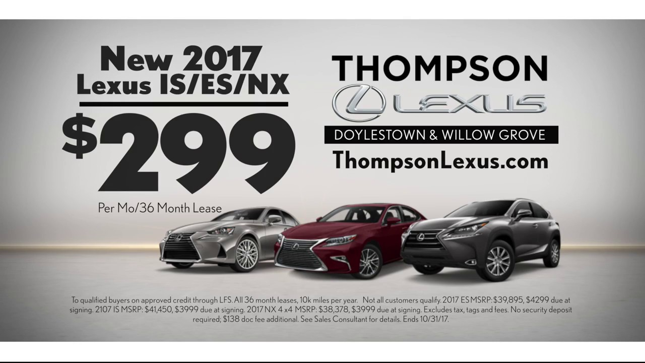 Lexus Lease Offers >> Lexus Lease Offers Near Doylestown October 2017 Youtube
