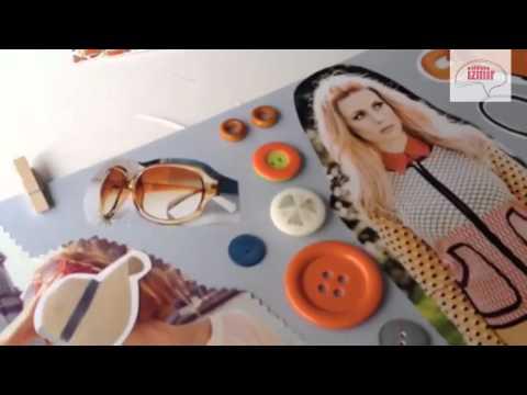 Atölye İzmir® Moda Tasarim Retro Konulu Moodboard Tasarımı