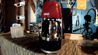 Coleman Propane Coffee Maker - First Use(, 2015-01-06T05:48:29.000Z)