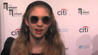 Music Artist Grimes on the Red Carpet at the 17th Annual Webby Awards