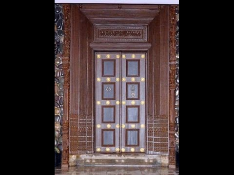 Tamil nadu wooden main door design 2 youtube for Big main door designs