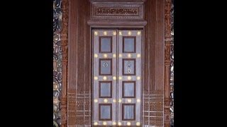 Tamil Nadu Wooden Main Door Design 2