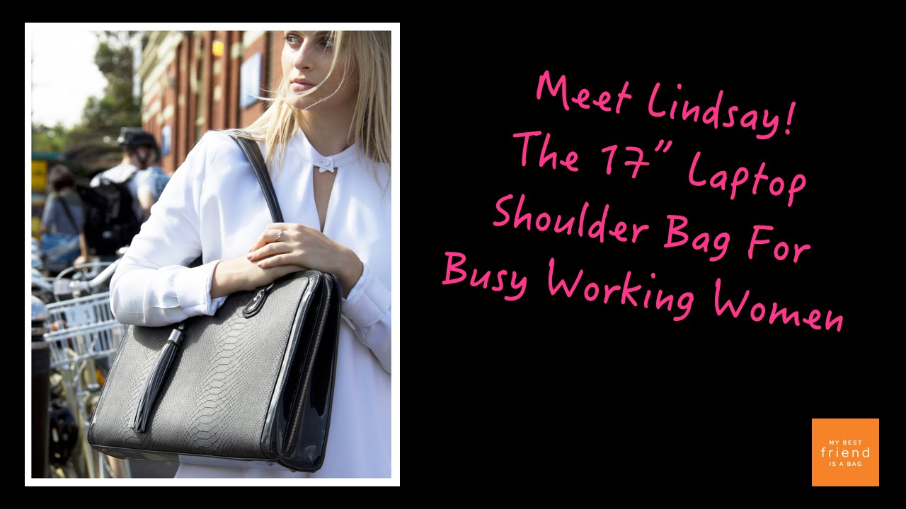 0b18be6e4ae6 The Lindsay 17 Inch Laptop Bag For Women In Grey Snakeskin!