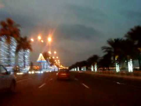 TRIANGLE lights are ready for qatar national day.MP4