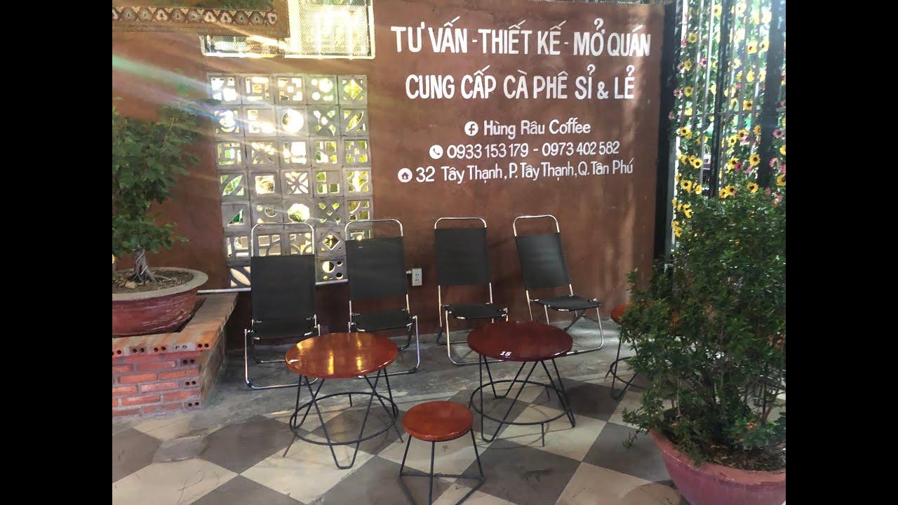 Bàn ghế cafe đẹp, rẻ 900 ngàn 1 bộ   Hùng Râu Coffee cóc đẹp thoáng mát  – Kho Tư liệu Xây dựng