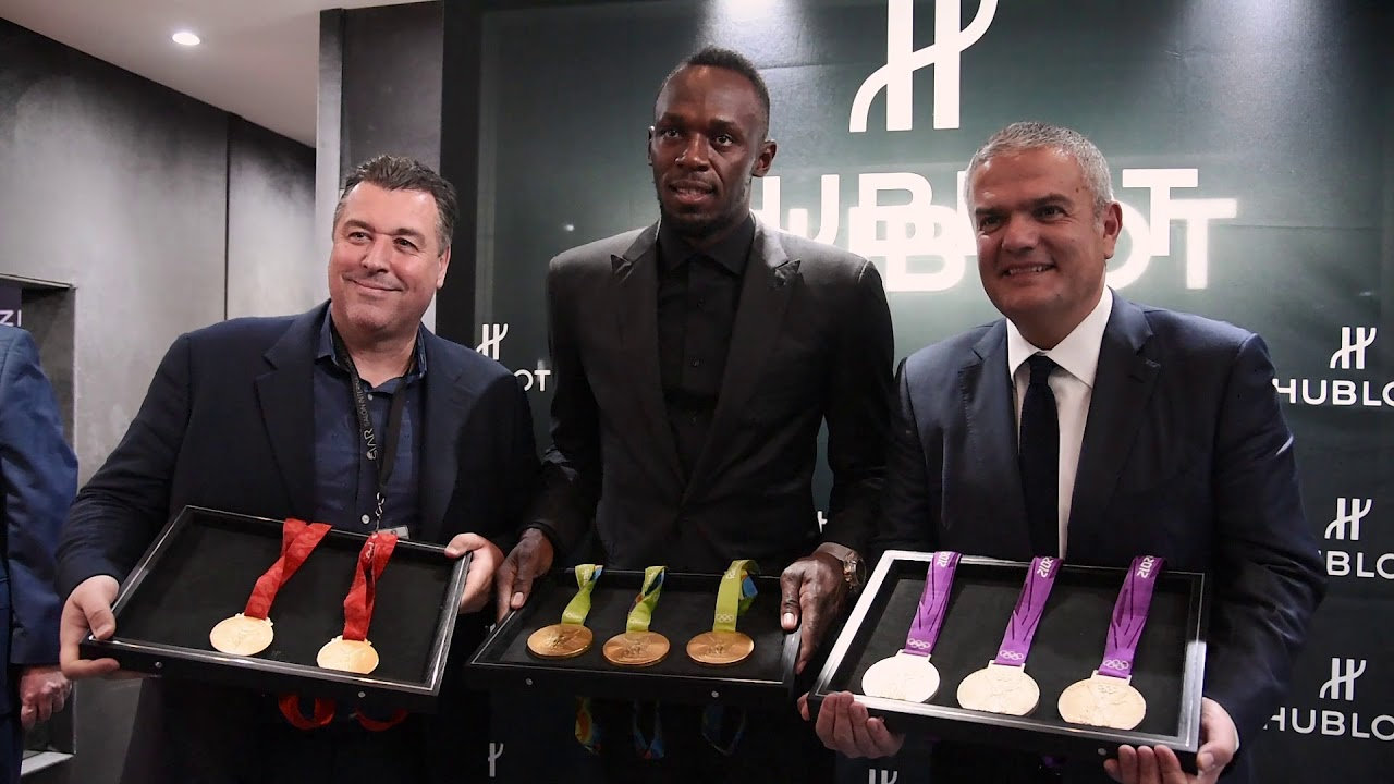 HUBLOT - USAIN BOLT WITH HUBLOT AT SIAR MEXICO