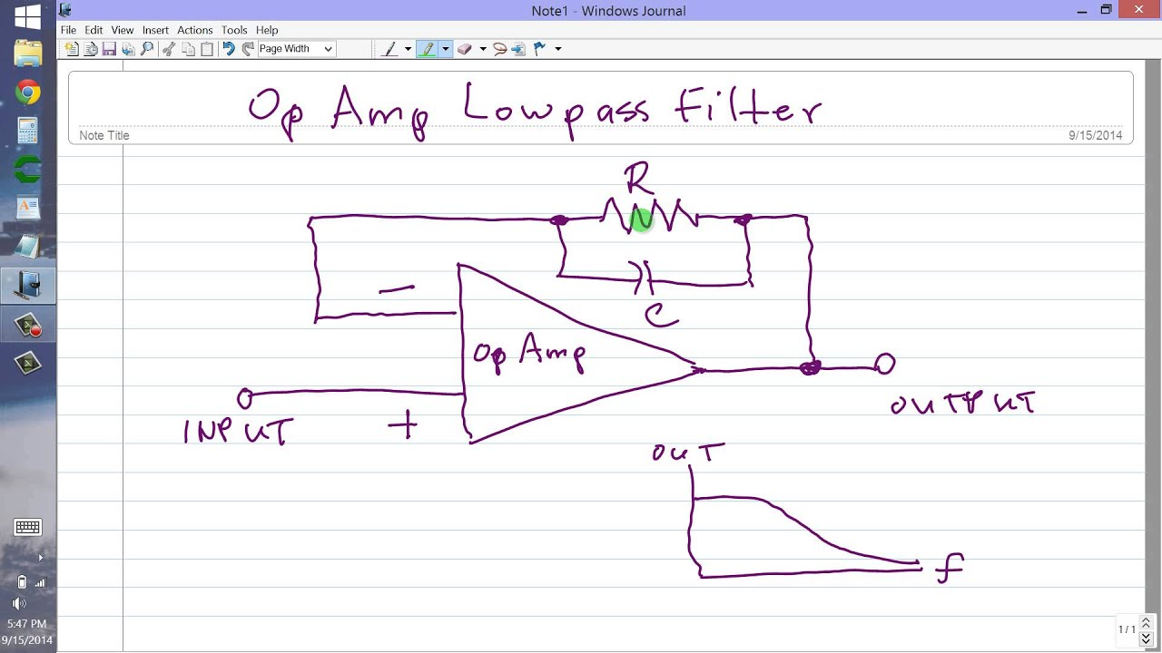 Op Amp Lowpass Filter Youtube Currentamplifierca3140
