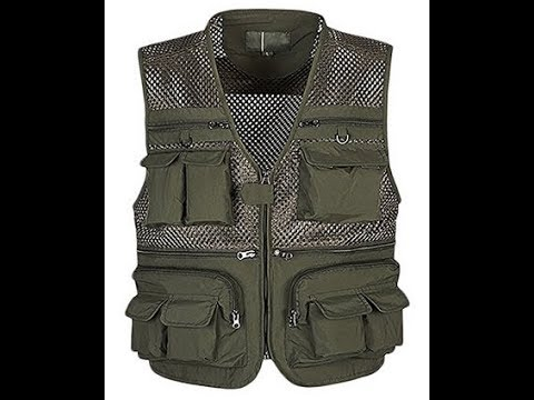 Men's Mesh Fishing Vest Multi Pockets (amazon)