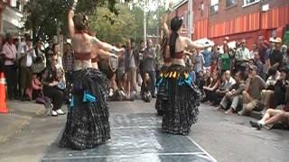 Belly dancing in Kensington Market