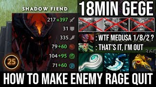 How to Make Enemy Rage Quit 18Min GG | NEW SF God Crazy Triple Raze Beautiful Plays by Top MMR DotA2