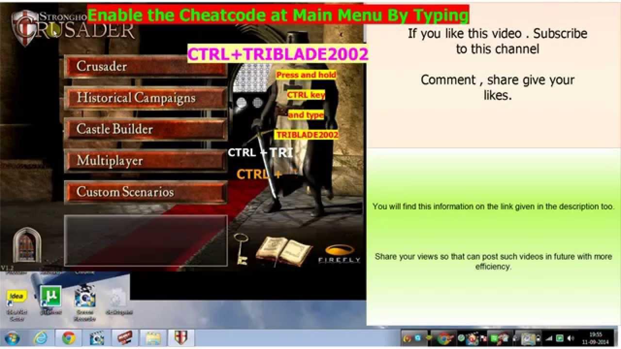 Stronghold Crusader Cheats