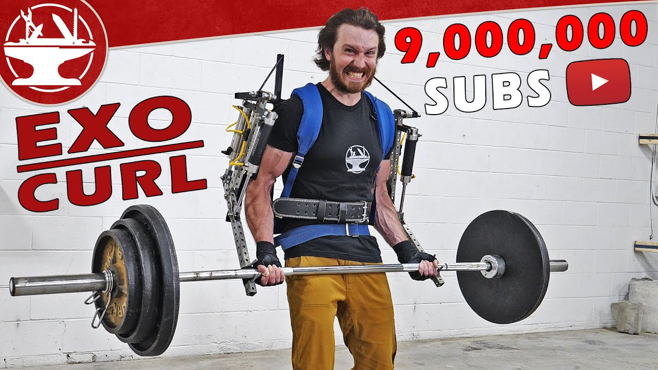 Exoskeleton Curls WORLD RECORD! (9M SUB VIDEO!!!)