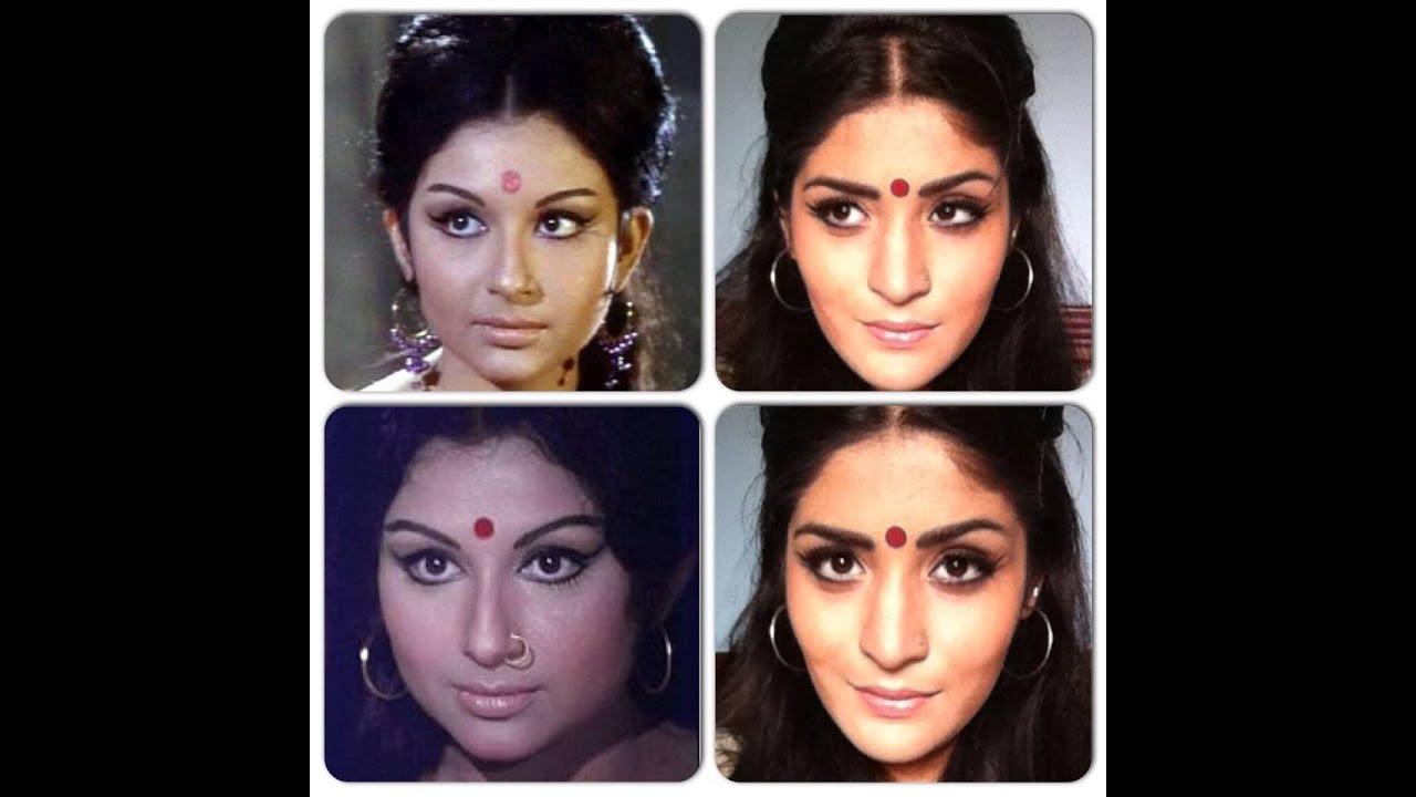 Sharmila Tagore inspired Retro 60's Makeup tutorial