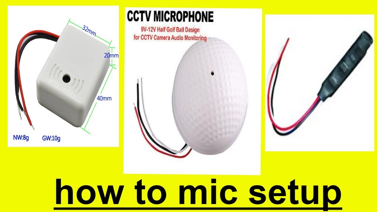 How To Cctv Mic Connection Connect A Microphone Dvr Youtube Build Speaker Circuit Diagram