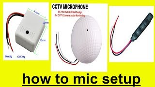 how to cctv mic connection Connect a Microphone to a DVR