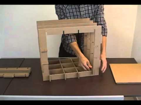 Muebles modulares de cart n que puedes construir t mismo for Muebles modulares