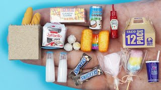 56 DIY MINIATURE BARBIE ~ Miniature of Food and Drinks, Life Hacks crafts !!!