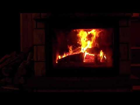 Howling Blizzard Winter Snow Storm Stone Fireplace Sounds with Howling Wind