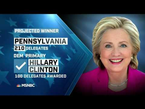 MSNBC Projects Hillary Clinton To Win Pennsylvania Primary