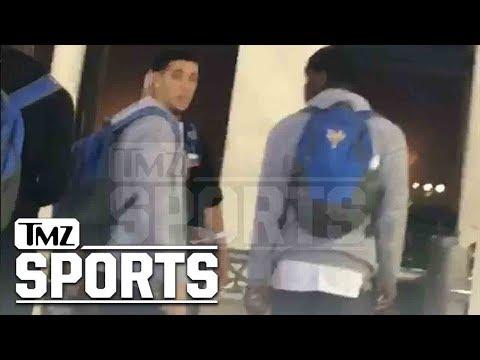 LiAngelo Ball & UCLA Teammates, Video From Shanghai Airport Before U.S. Flight